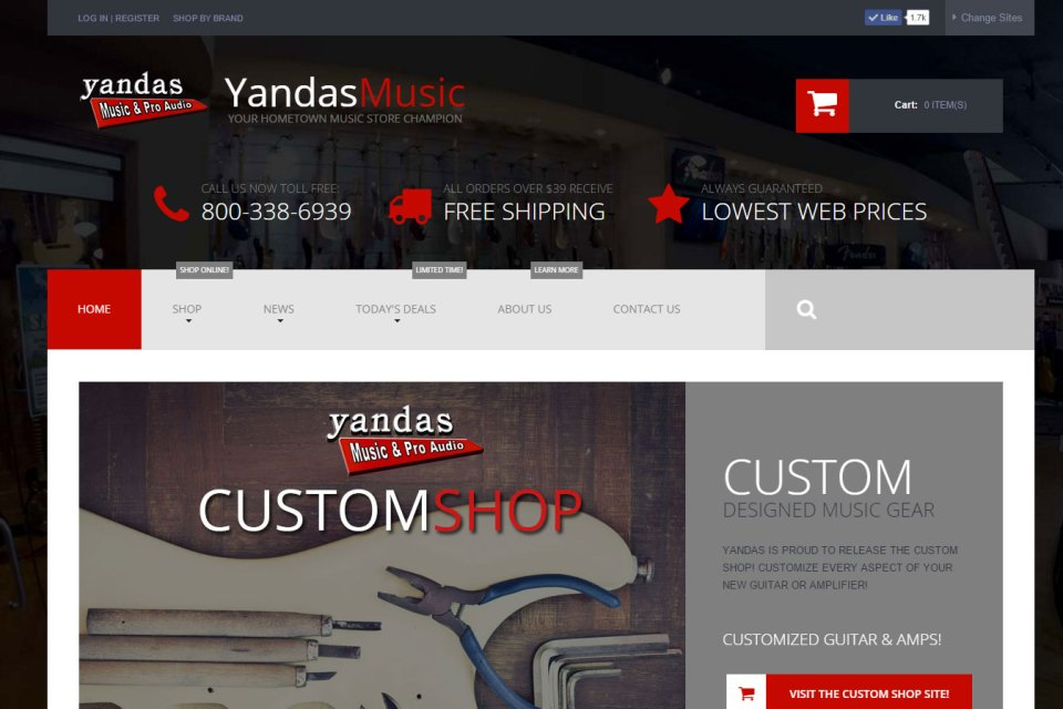YandasMusic.com screenshot capture