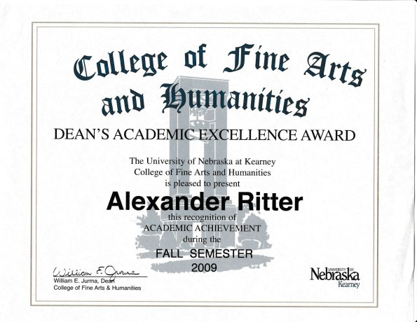 alex-ritter-deans-academic-excellence-award-fall-2009