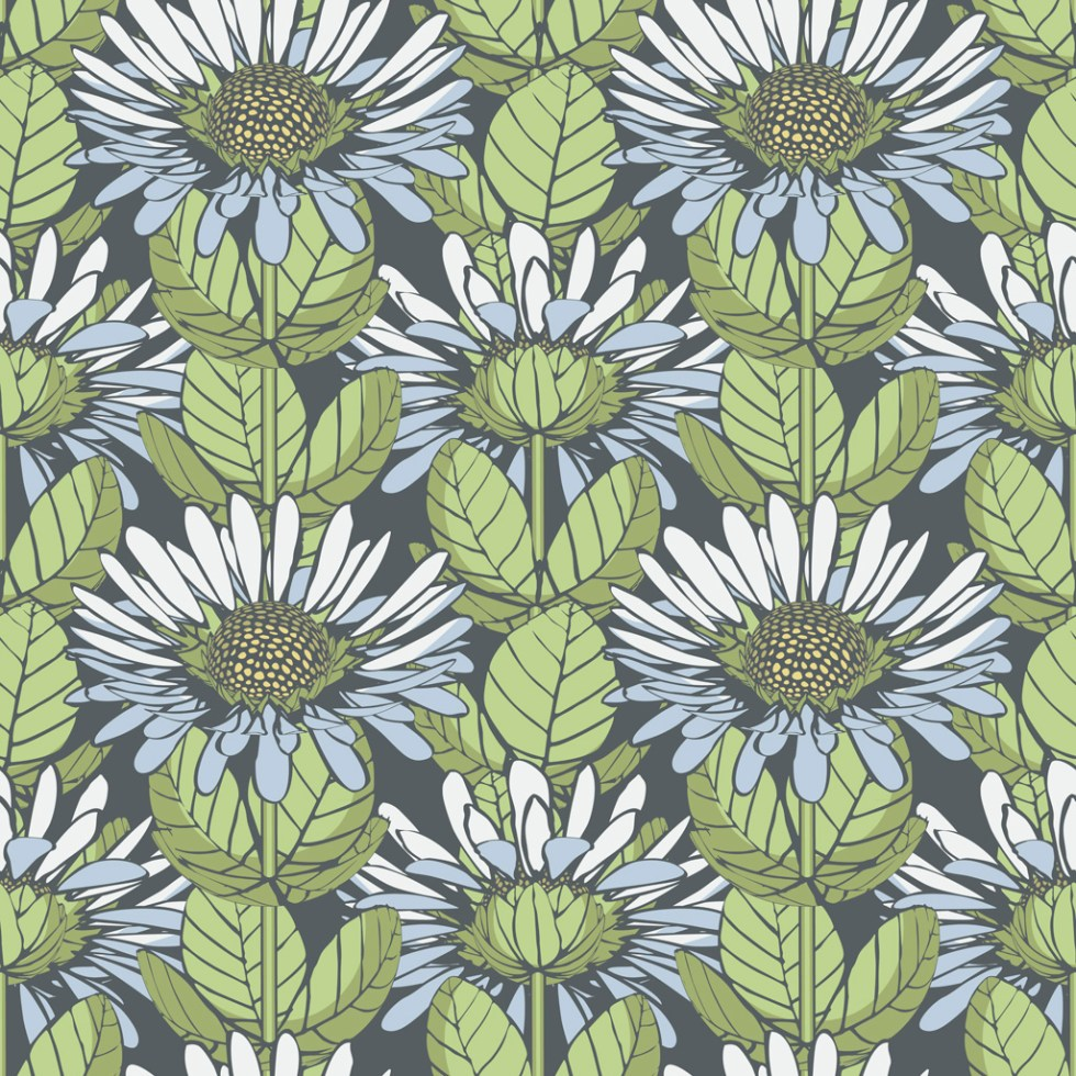 Colourway of ThreeDeeFloral by Alex Russell