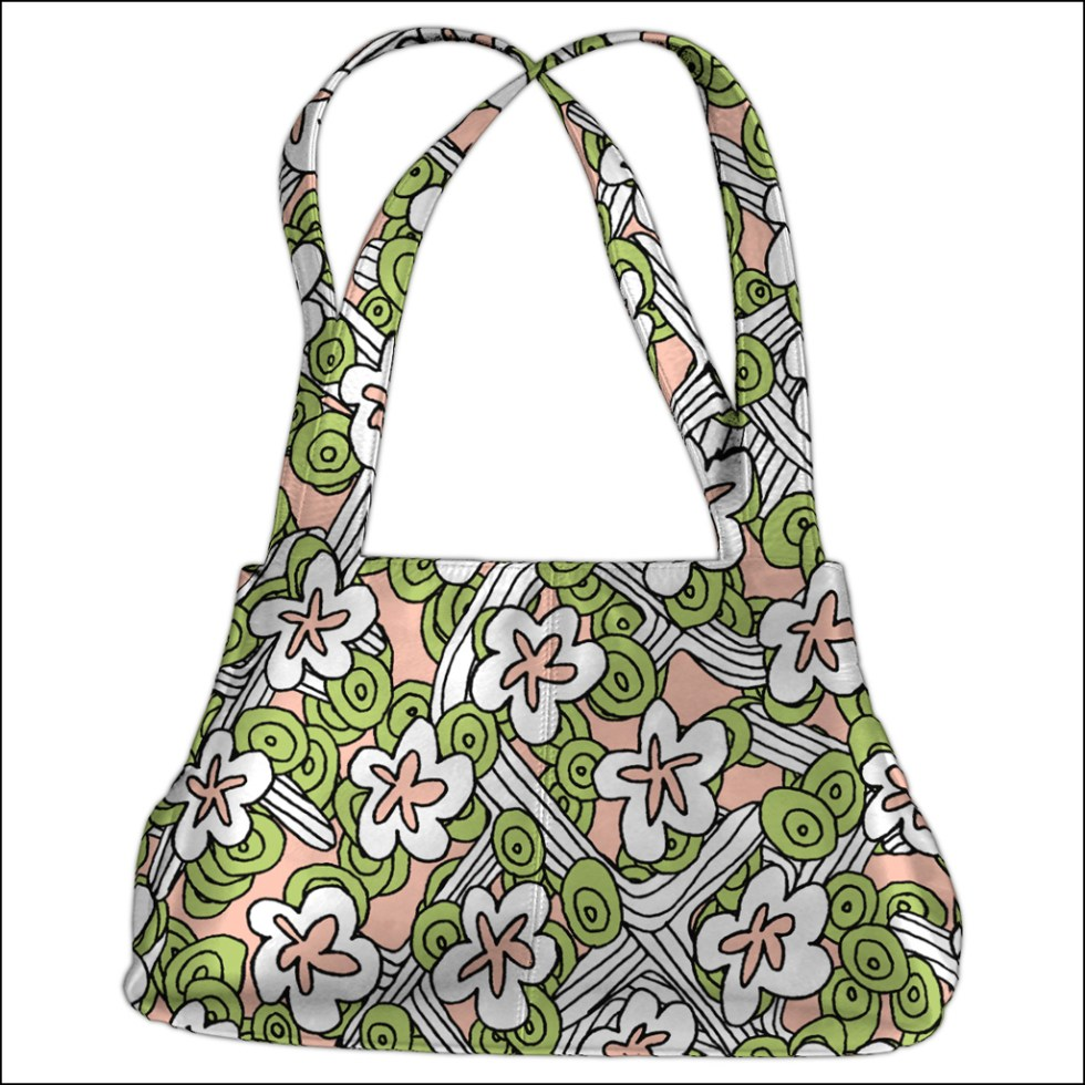 Illustration as bag of WobblyFloral by Alex Russell