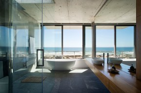 Bathroom overlooking beach