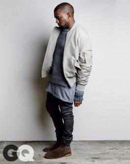 Jacket, $1,095 by Fear of God - Sweater, $395 by Michael Kors - T-shirt, $210 by Rochambeau - Boots by Bottega Veneta