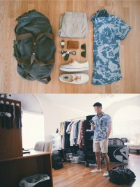 Summer Gear - AEO floral shirt, JCF shorts, Vans, Timex Weekender, Ray Ban, Clubmasters, Guarded Goods wallet, Corter Leather hook, J.Crew, Abingdon duffle