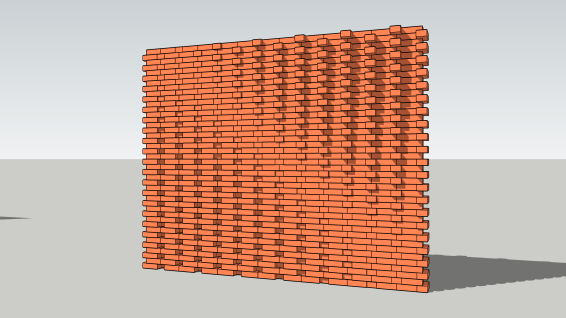 Pulled brick design example