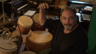 Jerry at his famous head drum.