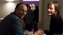 Mit Musikkabarettist und Moderator des MuSoC Festivals: Peter Fischer