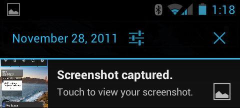 screenshot on android