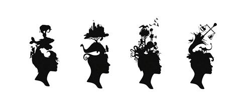 Логотипы в стиле изменяемые формы