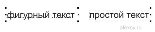 Виды текста в кореле