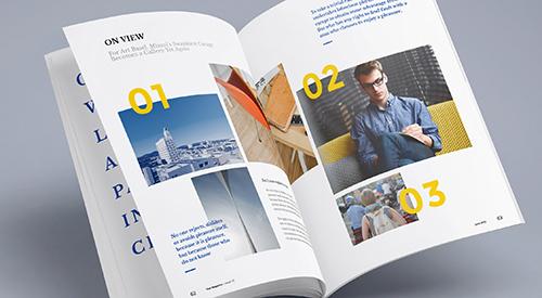 Журнал или буклет портфолио