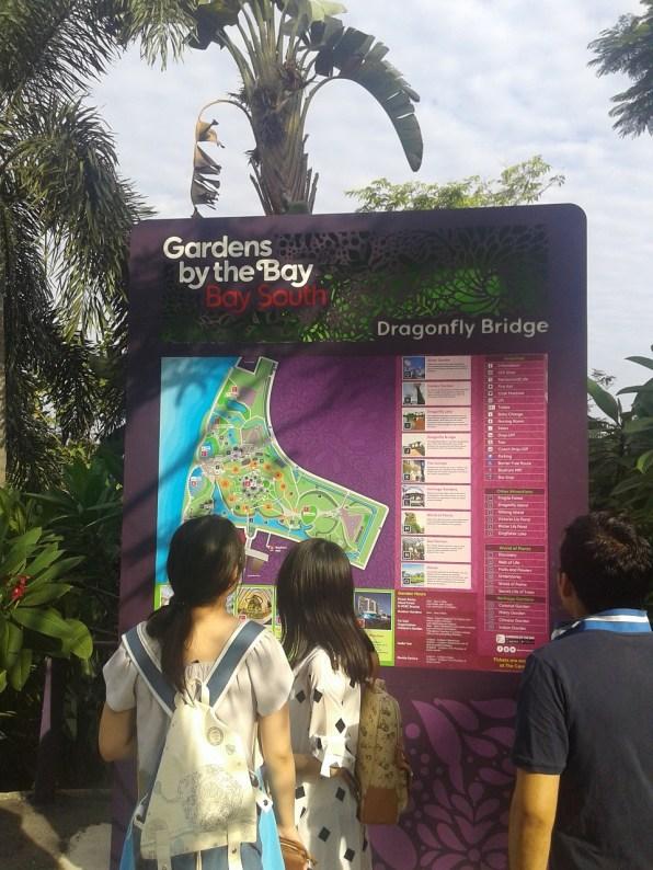 Map of the Gardens and curious tourists. Карта территории и любознательные туристы.