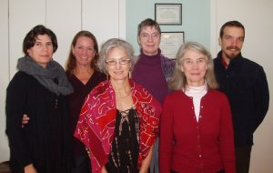 Alexander Technique teachers at the November 2012 exchange meeting (L-R): Ariel Weiss, Diane Young Sussman, Andrea Bruno, Lelia Calder, Martha Hansen Fertman, Joe Arnold