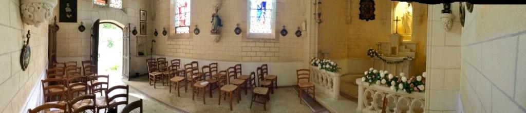 chapel at chateau de lacoste