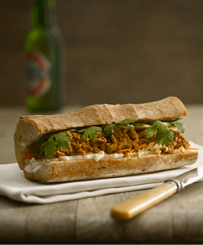 Coconut chicken baguette