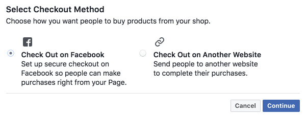 Shoppable Instagram - adding a shop to your facebook page