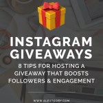 8 Tips For Hosting A Successful Instagram Giveaway Or Contest Instagram Courses Tutorials Tips By Alex Tooby