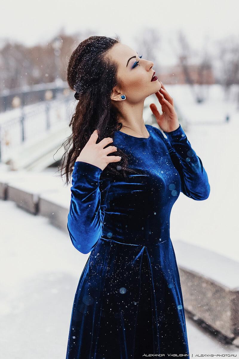 Зимняя фотосессия в парке Царицино