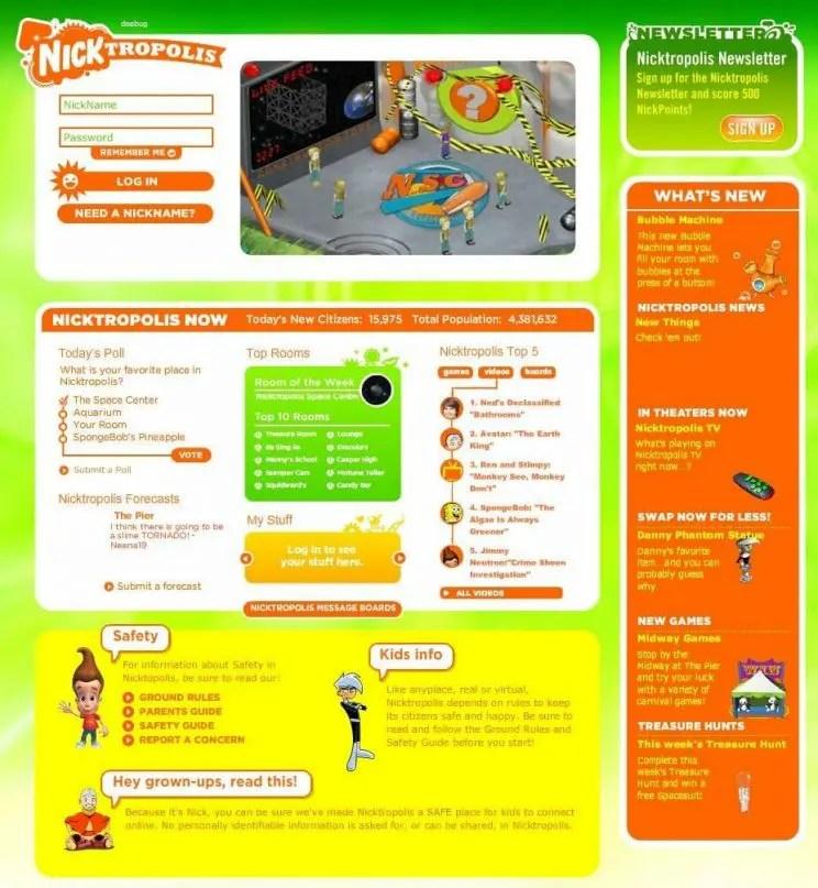 Nicktropolis-homepage