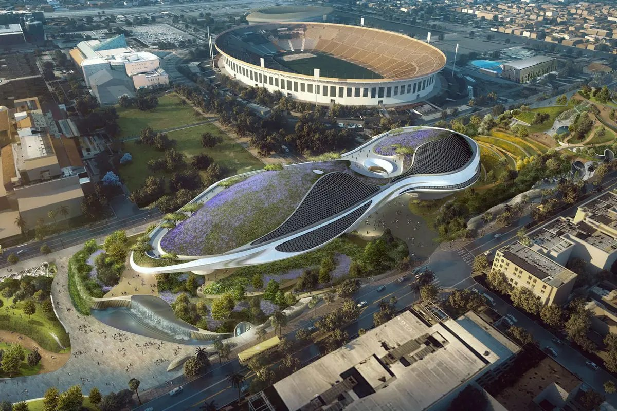This is what the Lucas Museum of Narrative Art will look like when it opens its doors in 2021. Light sabers, anyone?