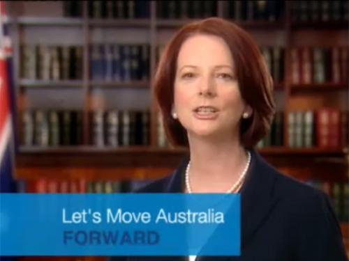 Gillard Moving Forward Ad