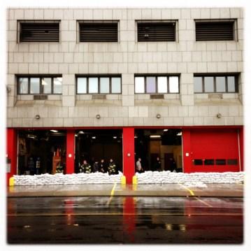 Firemen Prepare On South Street Michael Christopher Brown