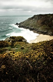 Porthcurno cornwall kernow photo photography landscape seacsape coast waves sea rocks cliffs