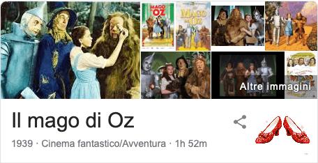 Easter Egg Google Il mago di Oz a colori
