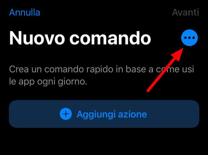 Setting - Comandi iOS - Shortcuts