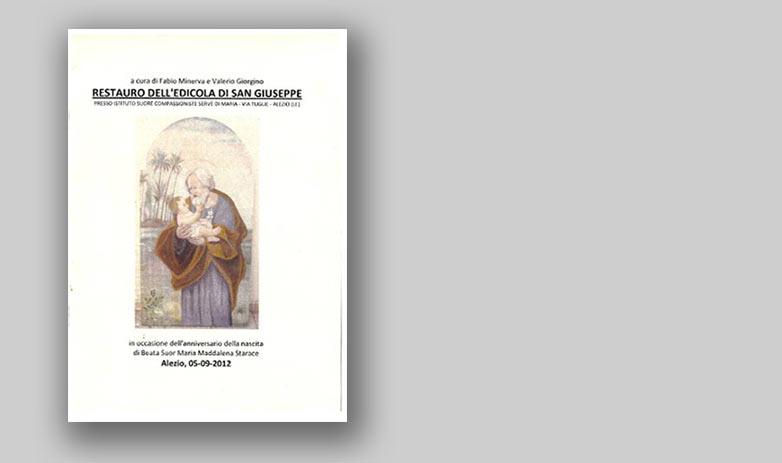 RESTAURO DELL'EDICOLA DI SAN GIUSEPPE