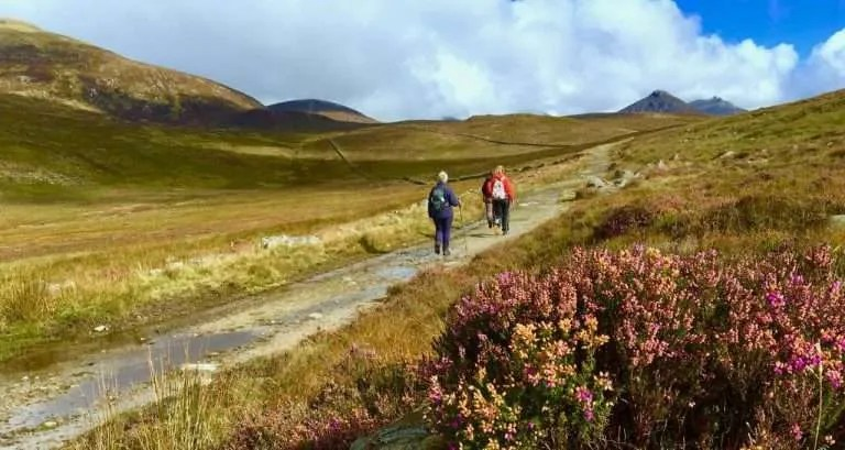 Wandelen in Ierland en het wandelweer