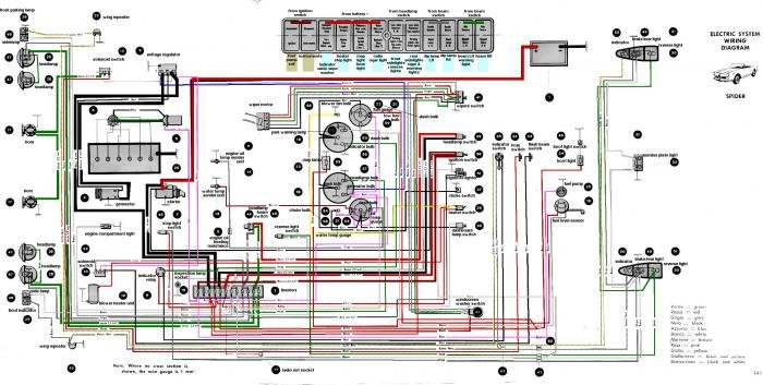 Large 2600 Spider Colour Wiring Diagram