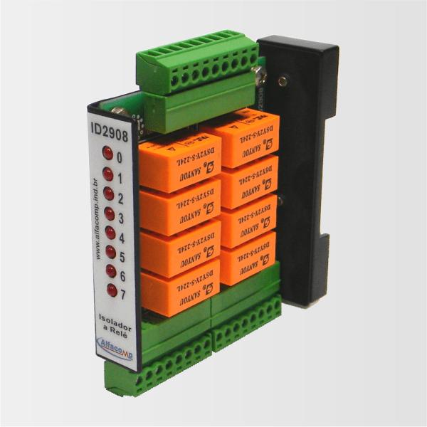 ID2908 – Isolador a relé para 8 saídas digitais sq