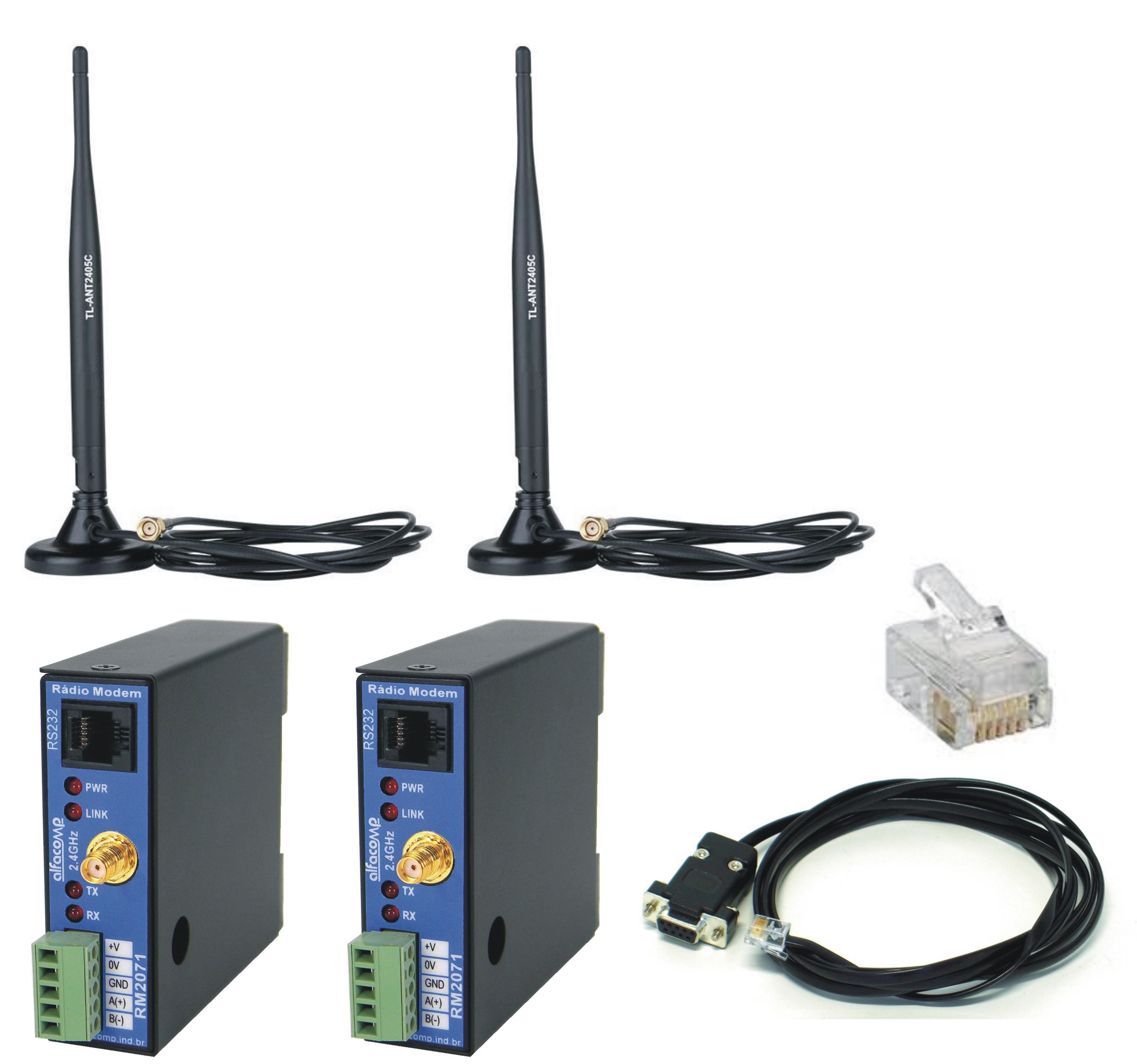 Kit completo para comunicação em chão de fábrica