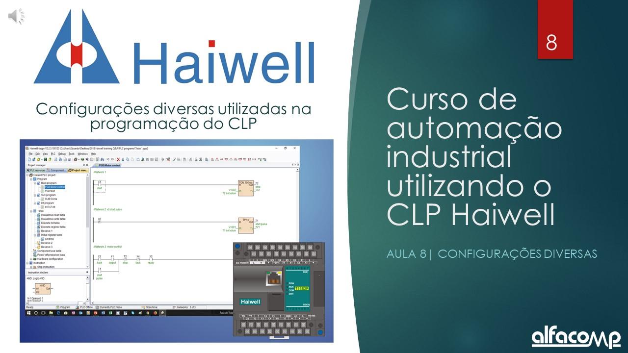 Curso de automação com CLP Haiwell – Aula 8