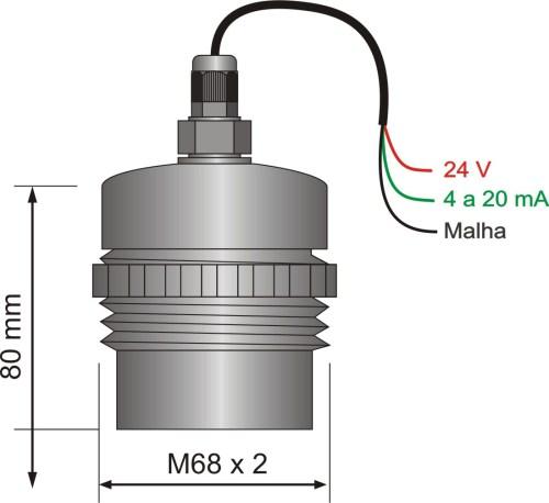 Transmissor ultrassônico de nível