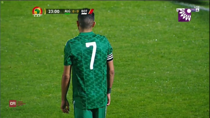 شاهد الهدف الاول (1 – 0) لصالح الجزائر في شباك بوتسوانا