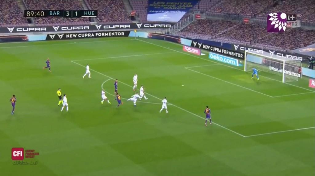 شاهد الهدف الرابع (4 – 1) لصالح برشلونة في شباك هويسكا