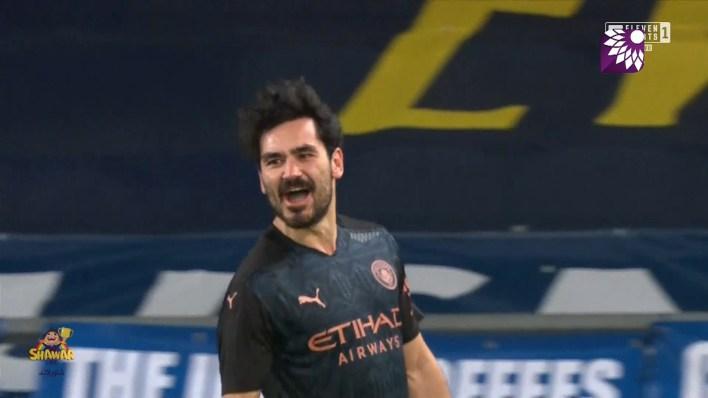 شاهد الهدف الاول ( 1-0 ) لصالح مانشستر سيتي في شباك ايفرتون
