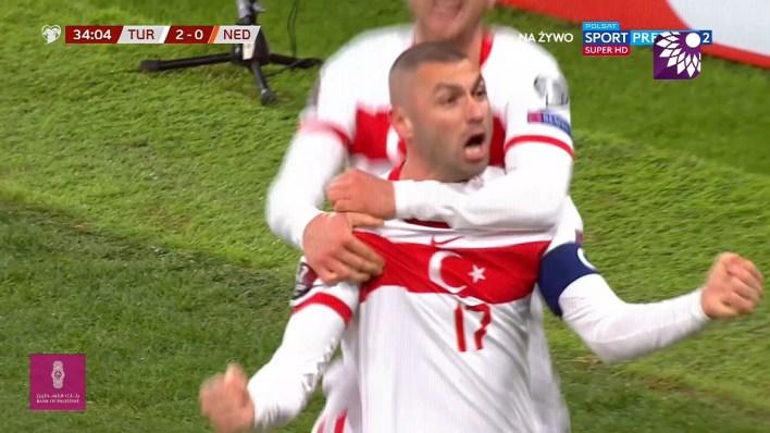 شاهد الهدف الثاني ( 2-0 ) لصالح تركيا في شباك هولندا