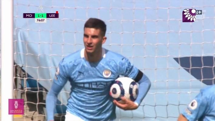 شاهد هدف التعادل  (1 – 1) لصالح مانشستر سيتي في شباك ليدز يونايتد