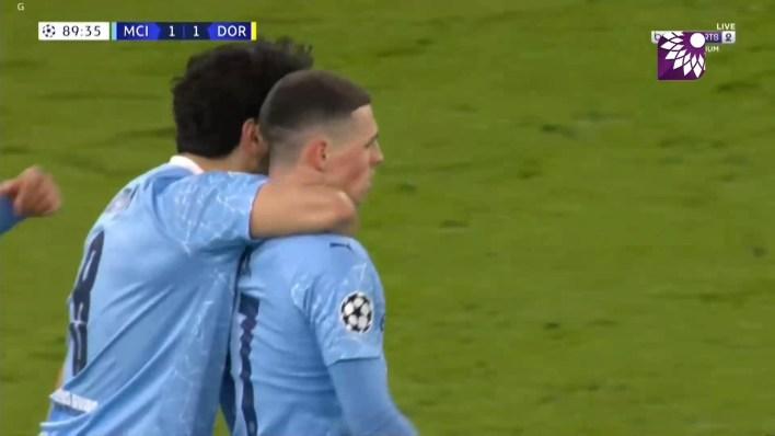 شاهد الهدف الثاني ( 2-1 ) لصالح مانشستر سيتي في شباك بروسيا دورتموند