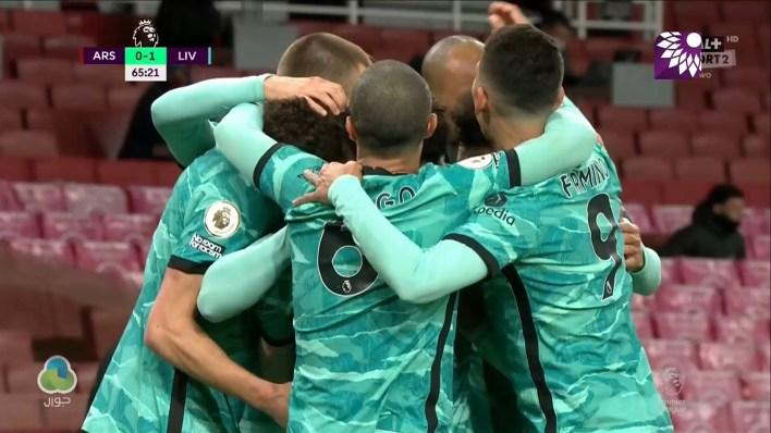 شاهد الهدف الاول (1 – 0 ) لصالح ليفربول في شباك ارسنال