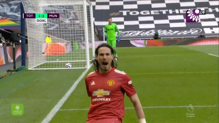 شاهد الهدف الثاني ( 2-1 ) لصالح مانشستر يونايتد في شباك توتنهام