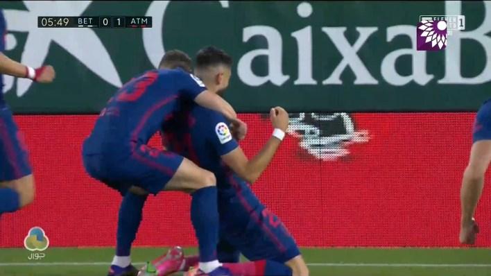 شاهد الهدف الاول ( 1-0 ) لصالح اتلتيكو مدريد في شباك ريال بيتيس
