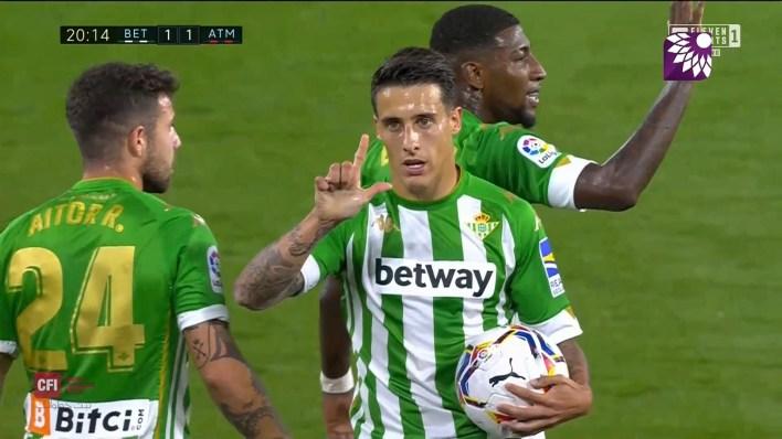 شاهد هدف التعادل ( 1-1 ) لصالح ريال بيتيس في شباك اتلتيكو مدريد