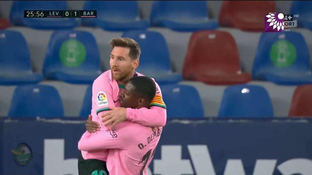 شاهد الهدف الاول ( 1-0 ) لصالح برشلونة في شباك ليفانتي