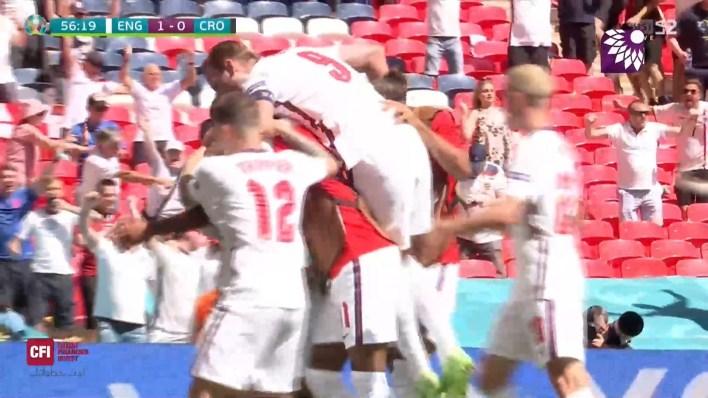 شاهد الهدف الاول (1 – 0) لصالح إنجلترا في شباك كرواتيا