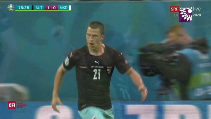 شاهد الهدف الاول ( 1-0 ) لصالح النمسا في شباك مقدونيا الشمالية