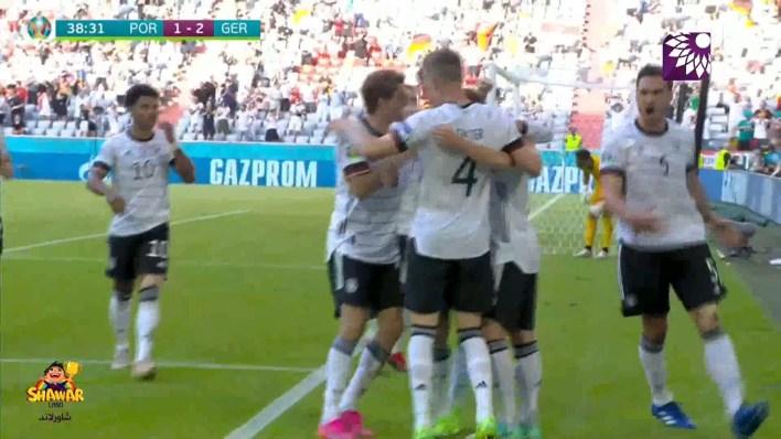 شاهد الهدف الثاني (2-1) لصالح المانيا في شباك البرتغال