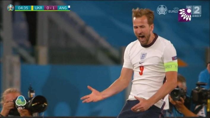 شاهد الهدف الاول ( 1-0 ) لصالح انجلترا في شباك اوكرانيا